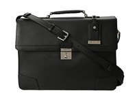 Tumi Astor Dorilton Slim Flap Leather Brief Black Briefcase Bags