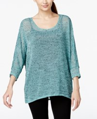 Alfani Hi Low Sheer Knit Sweater Only At Macy's