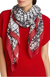 Women's Lafayette 148 New York 'Pebble Road' Print Wool And Silk Scarf
