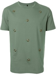Versus Studded T Shirt Green