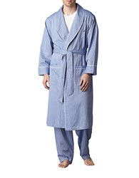 Nautica Anchor Woven Robe Blue