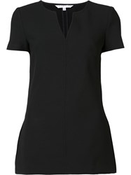Trina Turk V Slit Shortsleeved T Shirt Black
