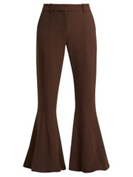 Sies Marjan Ramsey Cady Flared Trousers Dark Brown