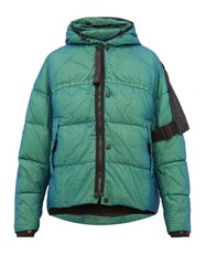 Nemen Loomit Hooded Quilted Down Jacket Blue Multi