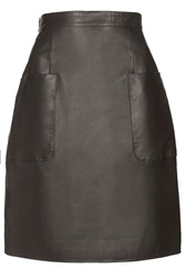 Angie Black Leather Skirt By Unique