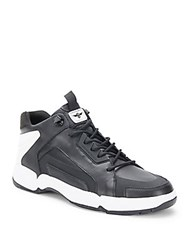 Creative Recreation Textured Lace Up Sneakers Black White