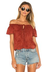 Blue Life Muse Tie Top Rust