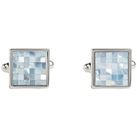 Simon Carter Check Square Mother Of Pearl Cufflinks