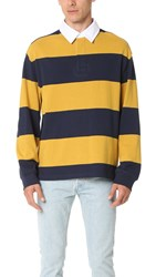 Alexander Wang Engineered Stripe Oversized Long Sleeve Polo Hornet