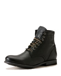 Frye Tyler Lace Up Leather Boots Black