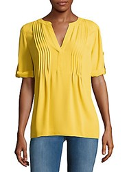 Bcbgmaxazria Solid Spacetuck Top Sunflower
