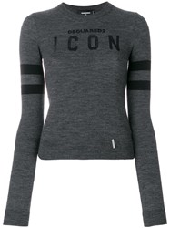 Dsquared2 Icon Knit Jumper Grey