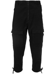 Stampd Cargo Cropped Trousers Black