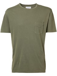 Officine Generale Chest Pocket T Shirt Green