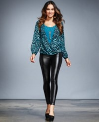 Thalia Sodi Layered Look Printed Necklace Top Only At Macy's Rich Teal Combo