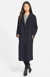 Andrew Marc New York Wool Blend Boucle Long Coat Online Only Navy