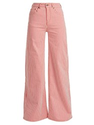 Rockins Mega Loon High Rise Striped Jeans Red Stripe
