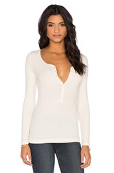 Gettingbacktosquareone Long Sleeve Henley White