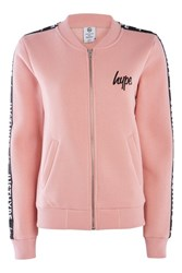Dusty Pink Justhype Taping Bomber Jacket By Pink