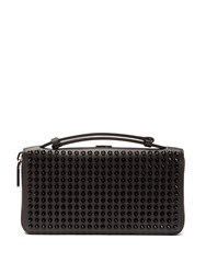 Christian Louboutin Panettone Xl Spike Stud Leather Wallet Black