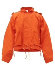Ambush Oversized Cotton Canvas Jacket Orange