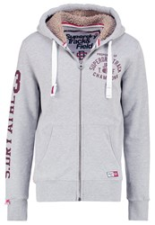 Superdry Tracksuit Top Grey Marl Mottled Grey