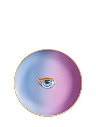 L'objet Lito Blue And Purple Porcelain Plate Multicolor