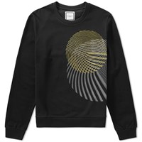 Wooyoungmi Embroidered Circle Crew Sweat Black