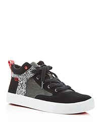 Toms Camila Keith Haring Chalkboard Print Mid Top Sneakers Black