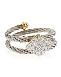 Alor Square Station Diamond Cable Ring Size 6.5