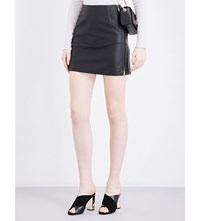 French Connection Canterbury Faux Leather Skirt Black