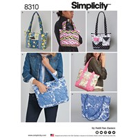 Simplicity Faith Van Zanten Quilted Bag Sewing Pattern 8310
