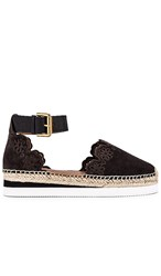 See By Chloe Glyn Espadrille In Black. Graphite
