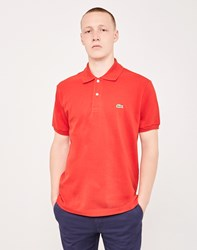 Lacoste Short Sleeve Polo Shirt Red