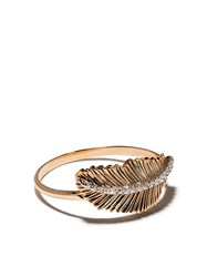 Kismet By Milka 14Kt Rose Gold Feather Diamond Ring