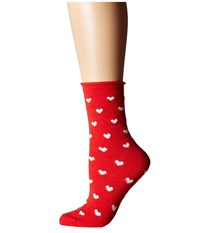 Plush Thin Rolled Fleece Socks Red Heart Women's Crew Cut Socks Shoes