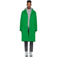 Opening Ceremony Green Nylon Logo Trench Coat