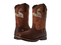 Timberland Independence Soft Toe Unlined Pull On Brown Full Grain Leather Cowboy Boots