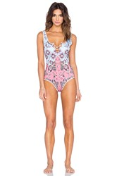 Clover Canyon Modern Paisley One Piece Blue