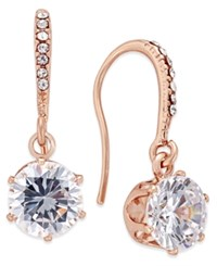 Charter Club Rose Gold Tone Crystal Threader Earrings Only At Macy's