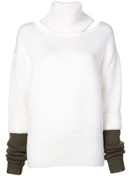 Monse Roll Neck Jumper White