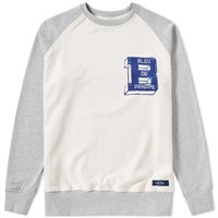 Bleu De Paname Raglan Logo Sweat Grey