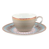 Pip Studio Ribbon Rose Espresso Cup And Saucer Khaki