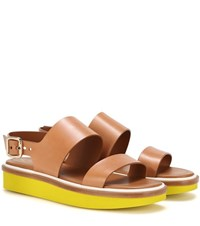Tod's Leather Sandals Brown