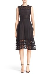 Jason Wu Women's Lace Inset Silk Cocktail Dress