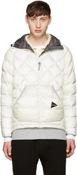 And Wander Off White Diamond Stitch Down Jacket