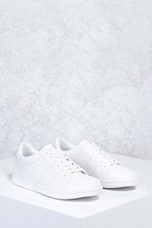 Forever 21 Perforated Faux Leather Sneakers