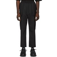 Juun.J Black Wool Cargo Pants