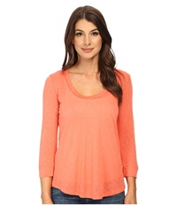 Splendid Slub 3 4 Length Sleeve Tee Guava Women's T Shirt Pink