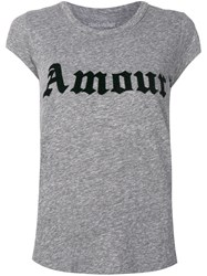 Zadig And Voltaire Amour T Shirt Grey